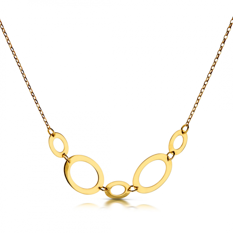 Złoty Naszyjnik - Owal