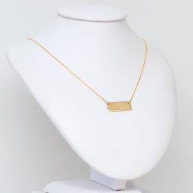 Naszyjnik złoty z blaszką