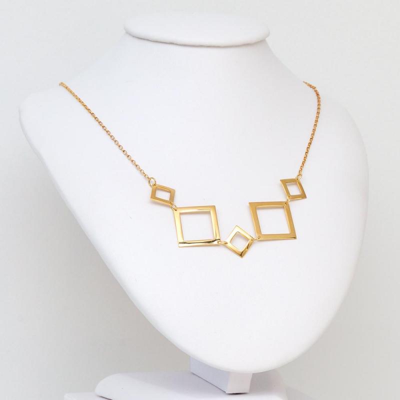 Złoty Naszyjnik - Kwadraty