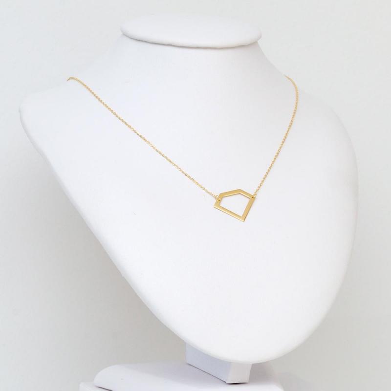 Celebrytka złota - Geometryczny Brylant