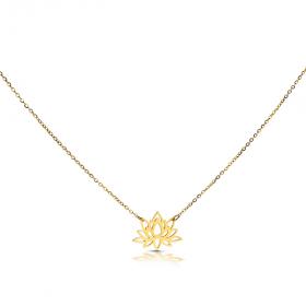 Naszyjnik złoty Lilia