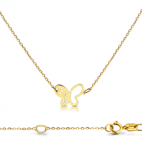 Celebrytka złota - Motyl ażurowy