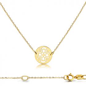 Celebrytka złota -  pestka ażurowa