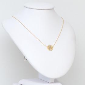 Naszyjnik złoty kółko ażurowe