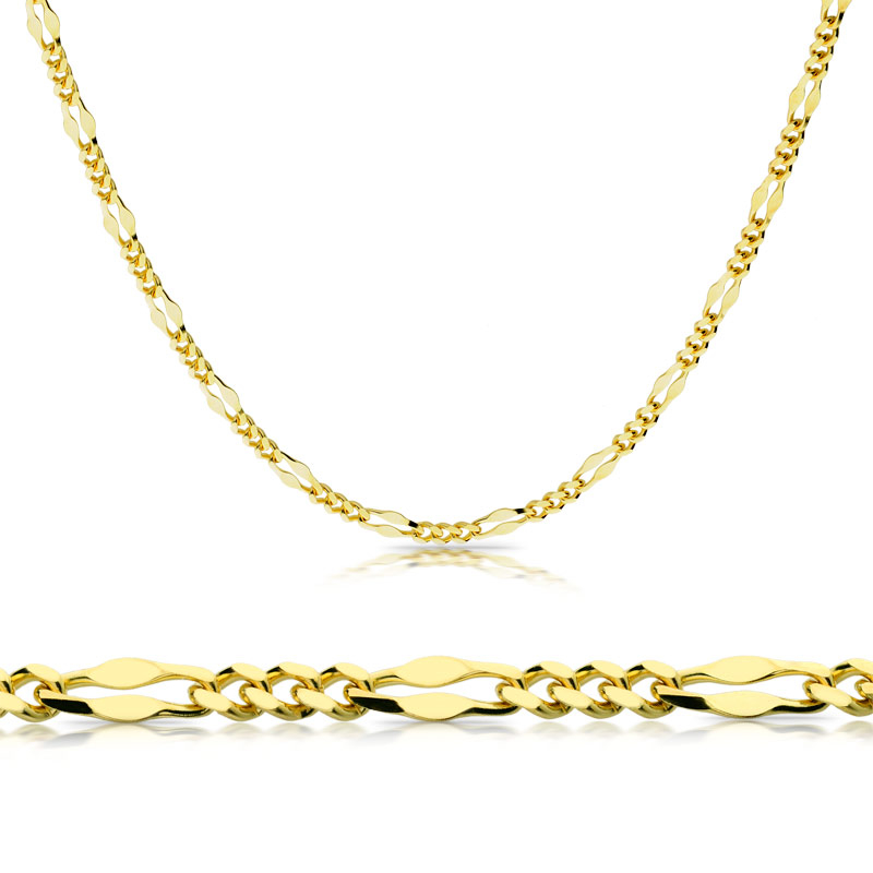 Łańcuszek złoty Fantazyjny 45cm