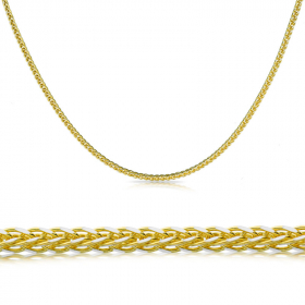 Łańcuszek złoty Lisi ogon 45cm