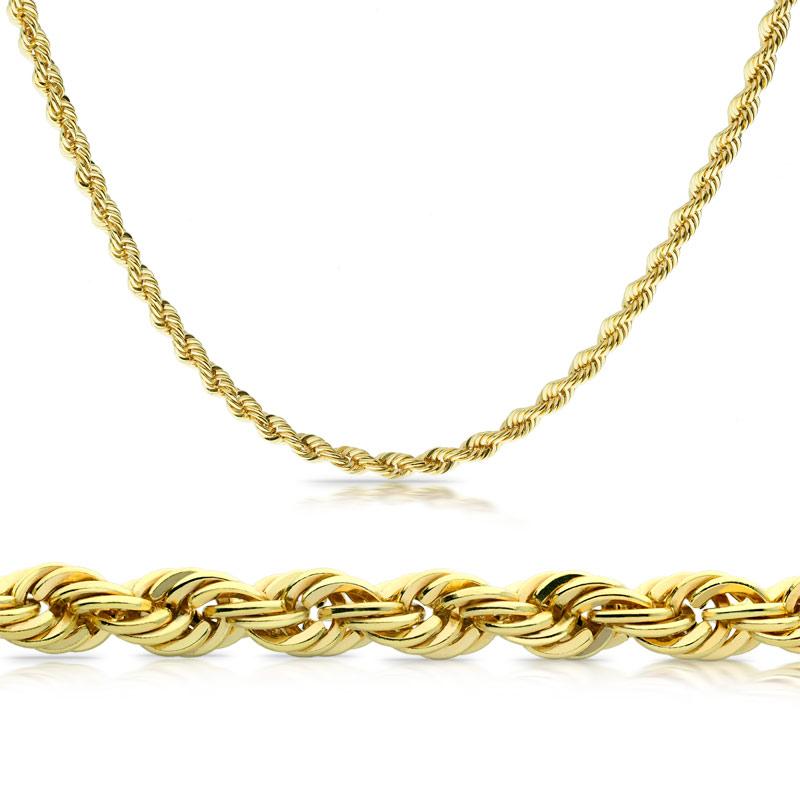 Łańcuszek złoty Kordelka 45cm