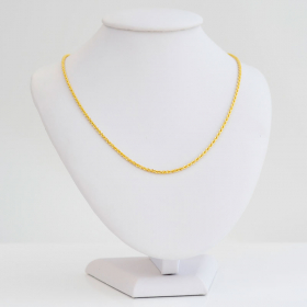 Łańcuszek złoty Kordelka 55cm