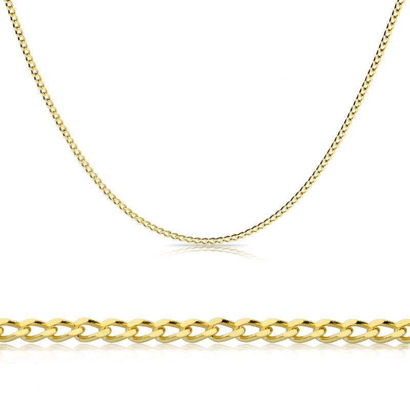 Łańcuszek złoty Pancerka 50cm
