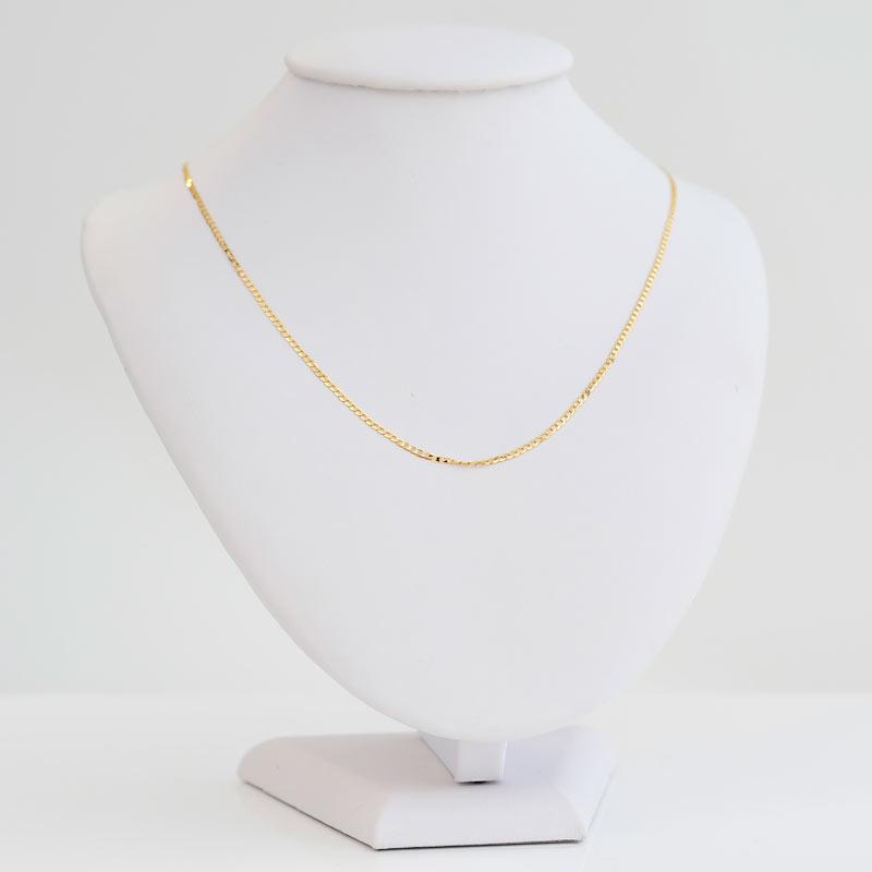Łańcuszek złoty Pancerka 45cm
