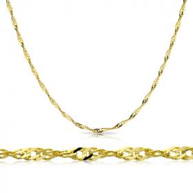 Łańcuszek złoty Singapur 50cm