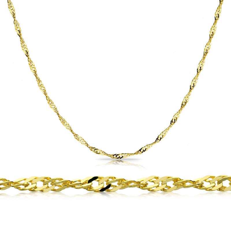 Łańcuszek złoty Singapur 45cm