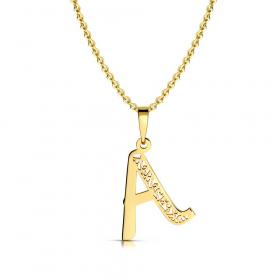 Litera złota A ażurowa