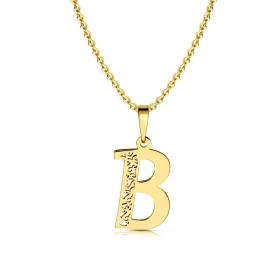 Litera złota B ażurowa