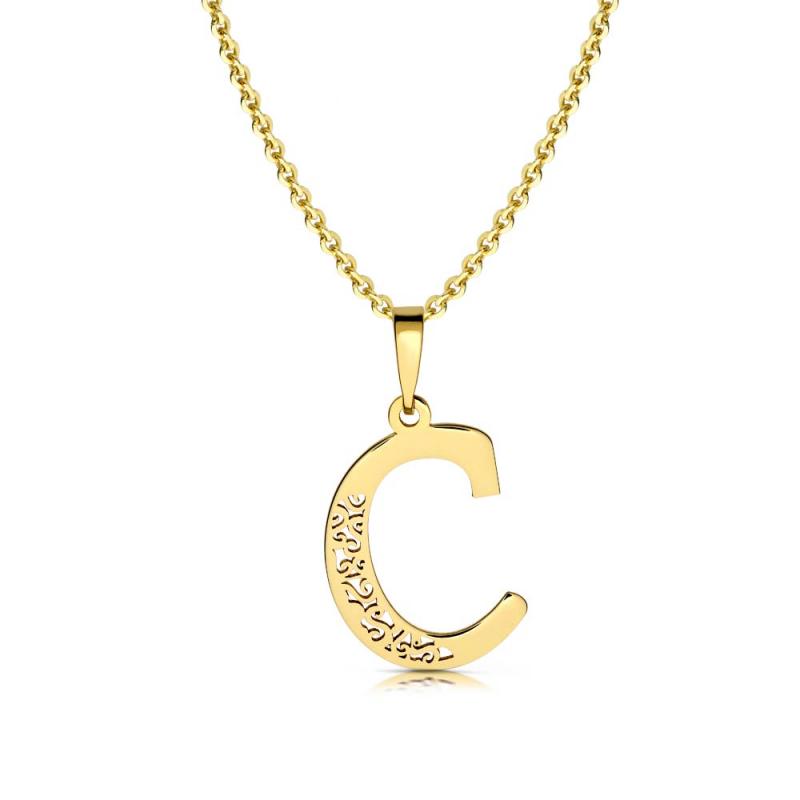 Litera złota C ażurowa