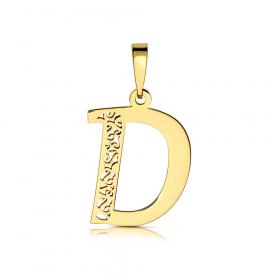 Litera złota D ażurowa