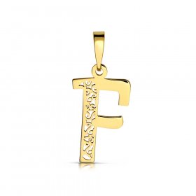 Litera złota F ażurowa