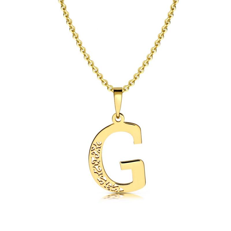 Litera złota G ażurowa