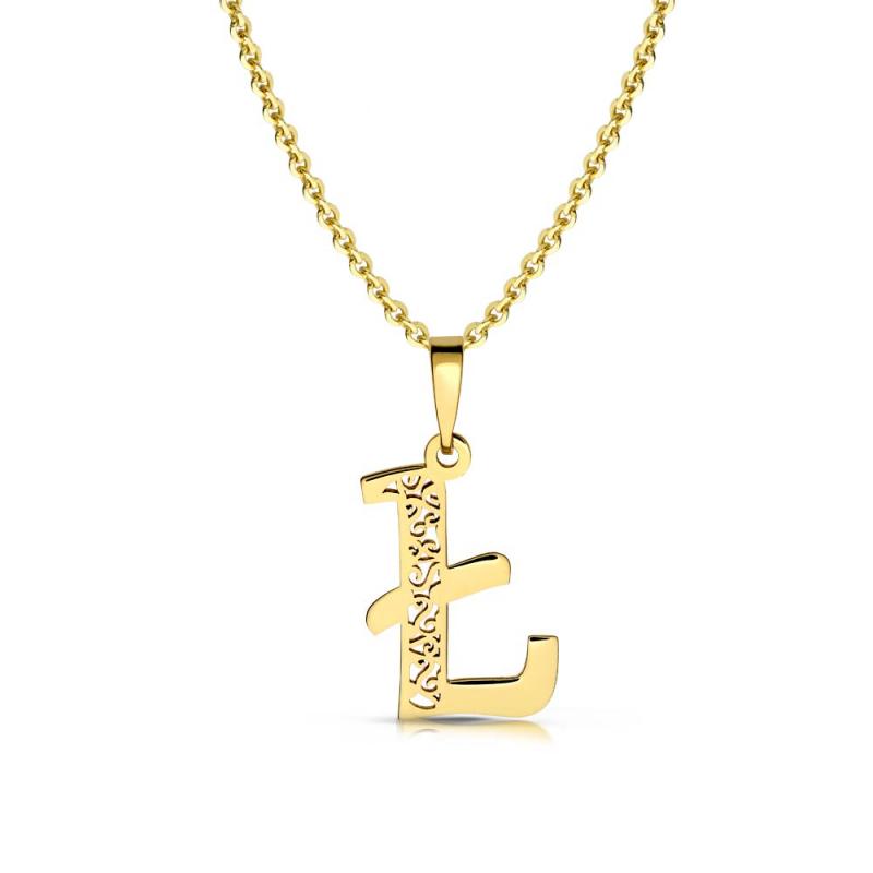 Litera złota Ł ażurowa