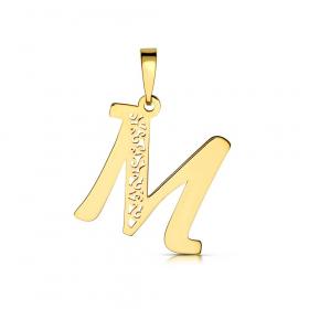 Litera złota M ażurowa