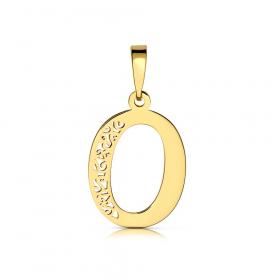 Litera złota O ażurowa