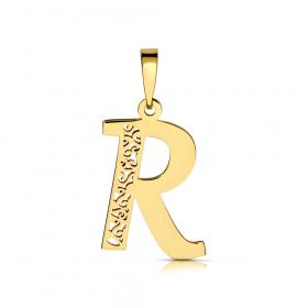 Litera złota R ażurowa