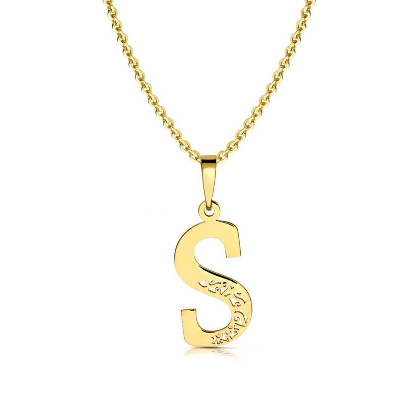 Litera złota S ażurowa