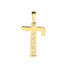 Litera złota T ażurowa