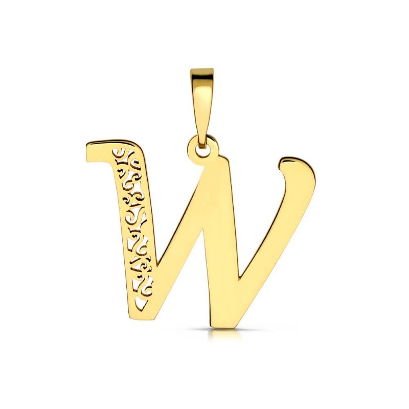 Litera złota W ażurowa