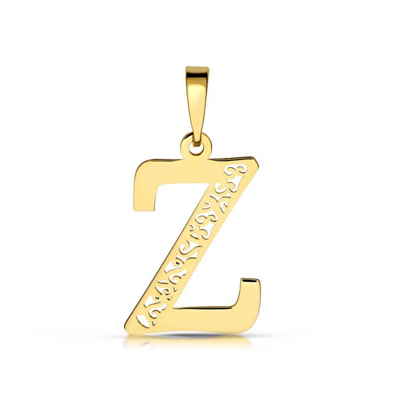 Litera złota Z ażurowa