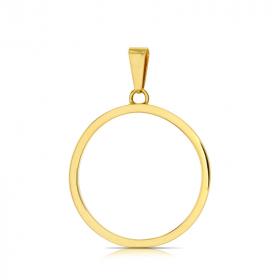 Zawieszka złota Okrąg Ring