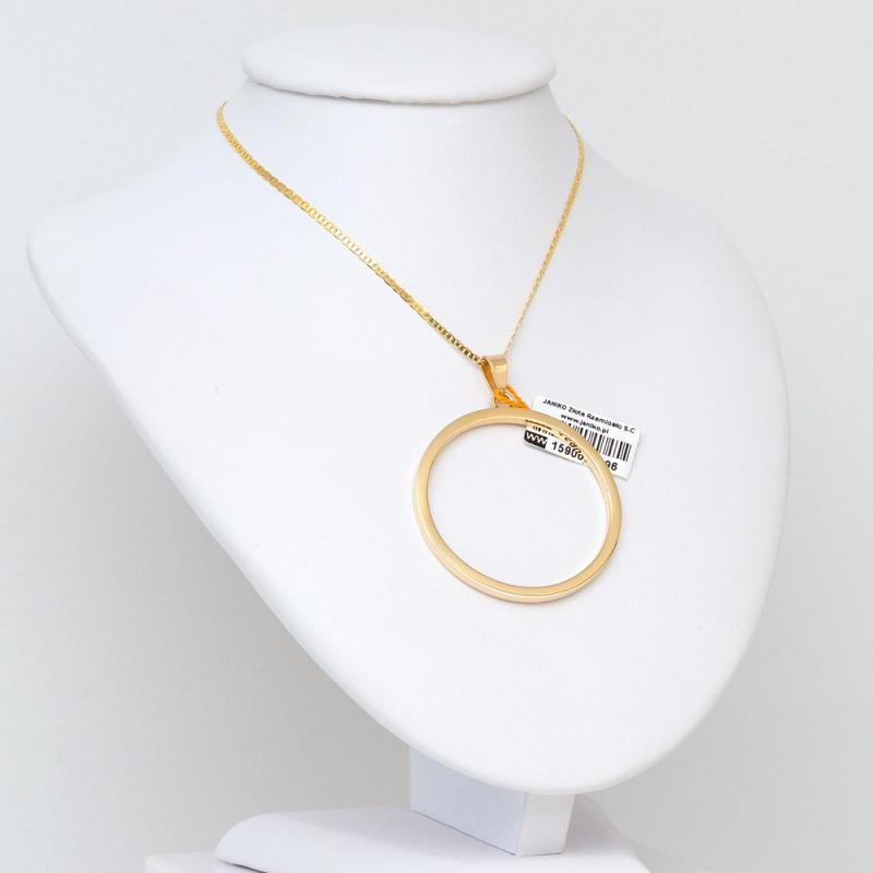 Wisior złoty Okrąg Ring