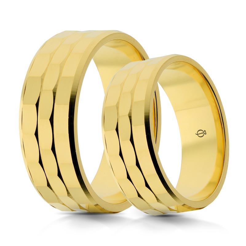 Złote obrączki P7003