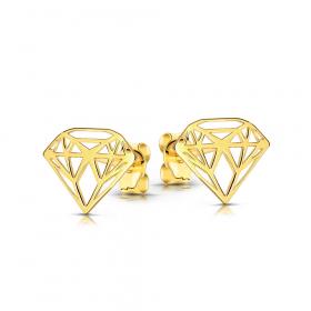 Kolczyki ażurowe złote diamenciki