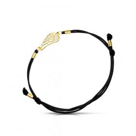 Bransoletka złota na sznurku Skrzydło