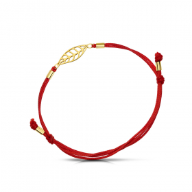 Bransoletka złota na sznurku Magnolia