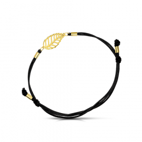 Bransoletka złota na sznurku Wierzba