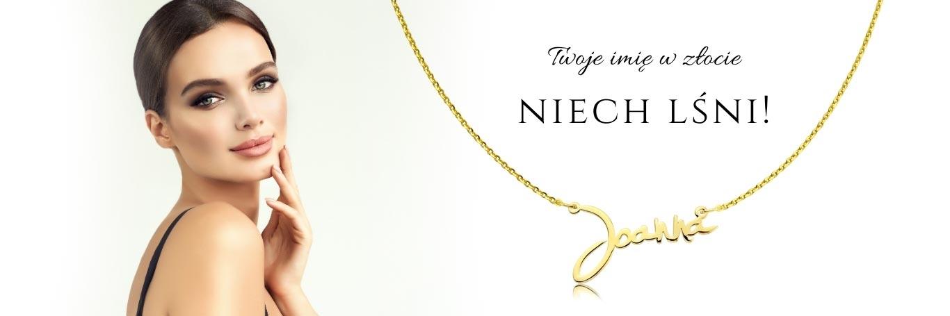 Złoty łańcuszek z imieniem; Imiona ze złota; Złote imię;